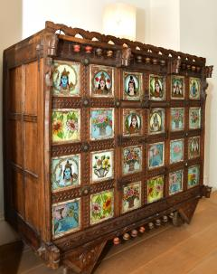 Early 1900s back painted dowry chest from Inidas Rajasthan or Gujarat region - 1561163