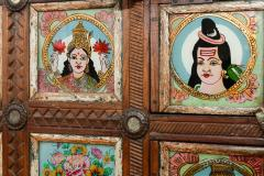 Early 1900s back painted dowry chest from Inidas Rajasthan or Gujarat region - 1561164
