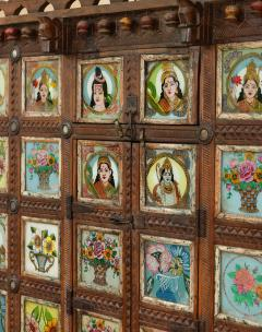Early 1900s back painted dowry chest from Inidas Rajasthan or Gujarat region - 1561165