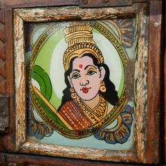 Early 1900s back painted dowry chest from Inidas Rajasthan or Gujarat region - 1561166