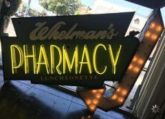 Early 1950s Lighted Neon Pharmacy Sign - 1947889