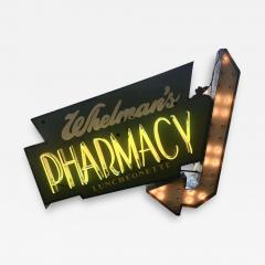 Early 1950s Lighted Neon Pharmacy Sign - 1949788