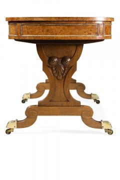 Early 19th Century Brass Mounted Pollard Oak Writing Table - 1017058