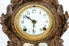 Early 19th Century Bronze Mounted Porcelain Face Clock - 1171006