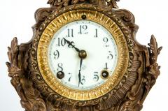 Early 19th Century Bronze Mounted Porcelain Face Clock - 1171008