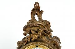 Early 19th Century Bronze Mounted Porcelain Face Clock - 1171010