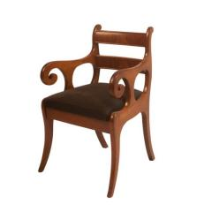 Early 19th Century French Louis Philippe Mahogany Armchair - 2129437