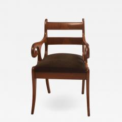 Early 19th Century French Louis Philippe Mahogany Armchair - 2131782