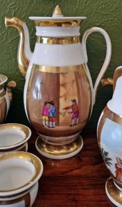 Early 19th Century French Old Paris Porcelain Tea and Chocolate Set - 1695071