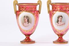 Early 19th Century Gilt Glass Pair Vases Urns - 1593438