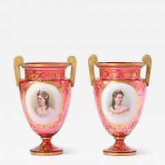 Early 19th Century Gilt Glass Pair Vases Urns - 1595024