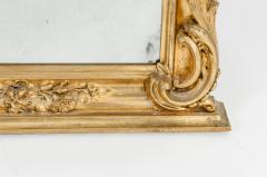 Early 19th Century Hand Carved Giltwood Crown Top Wall Mirror - 1170246