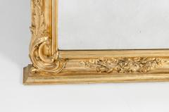 Early 19th Century Hand Carved Giltwood Crown Top Wall Mirror - 1170251