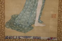 Early 19th Century Japanese Scroll Bijin After The Bath In Summer - 1964335