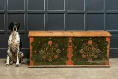Early 19thC Swedish Marriage Dowry Chest - 1946614