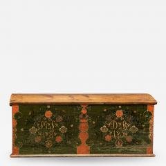 Early 19thC Swedish Marriage Dowry Chest - 1949109