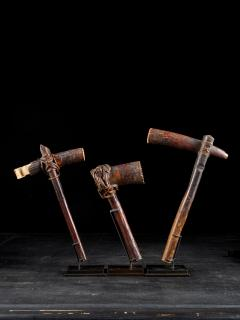 Early 20th C DRC Selection of three Bark cloth Beaters - 2000461