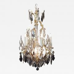 Early 20th c french bronze dor and lead crystal chandelier early 20th c french bronze dore and lead crystal chandelier 309187 aloadofball Image collections