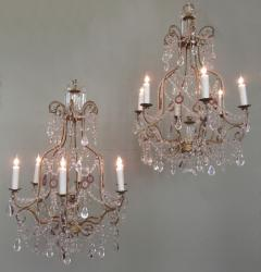 Early 20th C Italian Piedmont Crystal and Amethyst Chandeliers - 255229