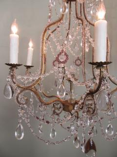 Early 20th C Italian Piedmont Crystal and Amethyst Chandeliers - 255230