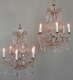 Early 20th C Italian Piedmont Crystal and Amethyst Chandeliers - 255231