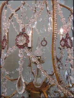 Early 20th C Italian Piedmont Crystal and Amethyst Chandeliers - 255232