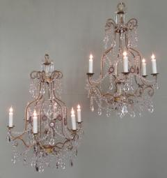 Early 20th C Italian Piedmont Crystal and Amethyst Chandeliers - 255234