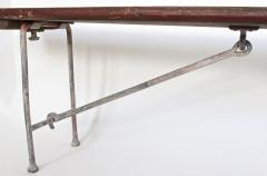Early 20th Century Auxiliary Staten Island Folding Hickory and Bronze Bench - 1845071