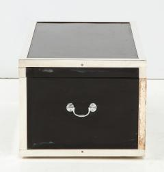 Early 20th Century Black Lacquer and Silverplate Trunk - 993709