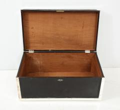 Early 20th Century Black Lacquer and Silverplate Trunk - 993713