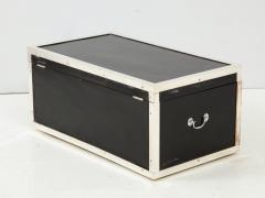 Early 20th Century Black Lacquer and Silverplate Trunk - 993717