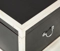 Early 20th Century Black Lacquer and Silverplate Trunk - 993722