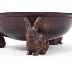 Early 20th Century Bronze Censer Supported by Three Rabbits - 2065613
