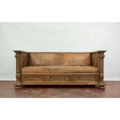 Early 20th Century European Leather Sofa - 1719740