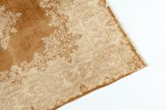 Early 20th Century Hand Knotted Silk Area Rug - 1169164