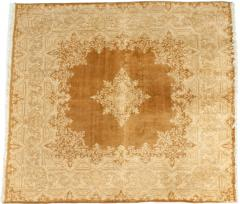 Early 20th Century Hand Knotted Silk Area Rug - 1169220
