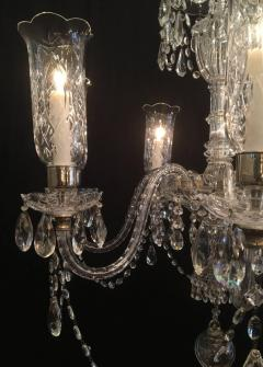 Early 20th century irish crystal chandelier with hurricane shades early 20th century irish crystal chandelier with hurricane shades 477185 aloadofball Image collections