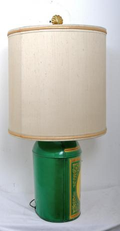 Early 20th Century Sea Shell Tole Canister Lamp 2 - 2067165