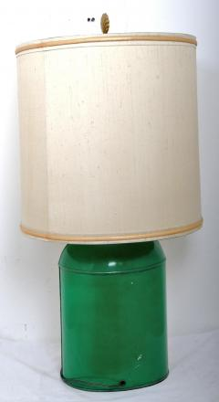 Early 20th Century Sea Shell Tole Canister Lamp 2 - 2067167
