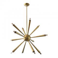 Early Brass Sputnik Chandelier Italy 1950s - 132992