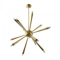 Early Brass Sputnik Chandelier Italy 1950s - 132993