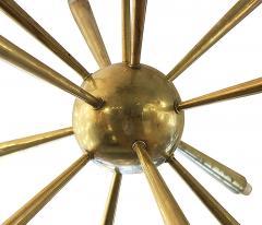 Early Brass Sputnik Chandelier Italy 1950s - 132994