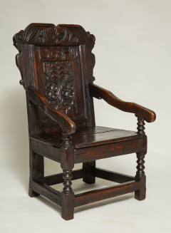 Early English Oak Wainscot Chair   293412