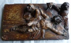 Early Spanish Panel on Chestnut Wood - 346455