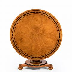 Early Victorian amboyna centre table - 823769