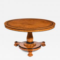 Early Victorian amboyna centre table - 825514