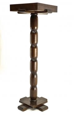 Early rarest Art Deco wooden carved modernist floor lamp - 1519465