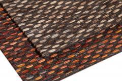 Easton Collection Woven Felt Textured Jaquard Wool Custom Rug - 1452130