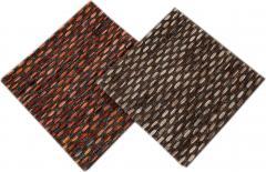 Easton Collection Woven Felt Textured Jaquard Wool Custom Rug - 1452320