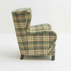 Easy chair Danish reupholstered with Mulberry fabric - 938478